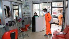 Berber,kuaför ve güzellik merkezleri dezenfekte ediliyor
