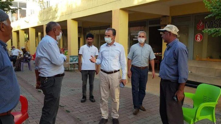 Başkan Kılınç'tan Buğdaycılar ve Bakliyatçılar Sitesi Esnafına Ziyaret