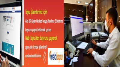 YEŞİLYURT BELEDİYESİ'NDE WEB TAPU UYGULAMASI BAŞLADI