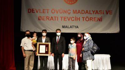 Şehit Yakınlarına ve Gazilerimize Devlet Övünç Madalyası ve Beratı Tevcih Edildi