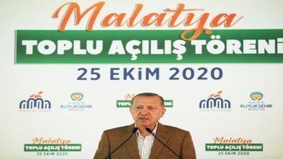 Cumhurbaşkanı Sayın Recep Tayyip Erdoğan Malatya'da Toplu Açılış Töreni'ne Katıldı