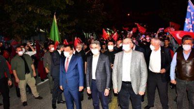 Malatya'da Saat19.23'te Havai Fişek Gösterisi Düzenlendi