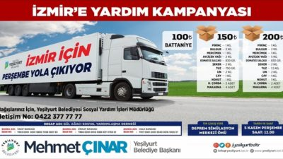 """""""İzmir İçin Tek Yürek Olalım"""""""