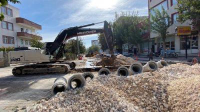 Abdulmusa Caddesi'ndeki Altyapı Çalışmalarında Sona Yaklaşıldı
