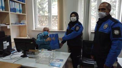 TOPLUM DESTEKLİ POLİSTEN BÜYÜKŞEHİR PERSONELİNE ANLAMLI ZİYARET