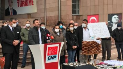 CHP GENEL BAŞKAN YARDIMCISI AĞBABA, ESNAFLARLA ORTAK BASIN AÇIKLAMASI YAPTI