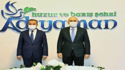 Ulaştırma ve Altyapı Bakanı Karaismailoğlu'ndan, Adıyaman Belediyesine Ziyaret