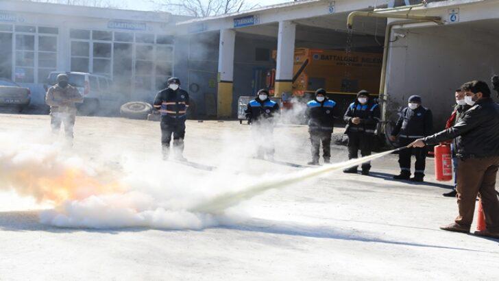 Yangın eğitimi ve yangın söndürme tatbikatı