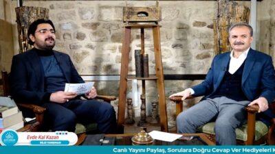 Belediye Başkanı Kılınç, 'Evde Kal Kazan' Bilgi Yarışmasına Konuk Oldu