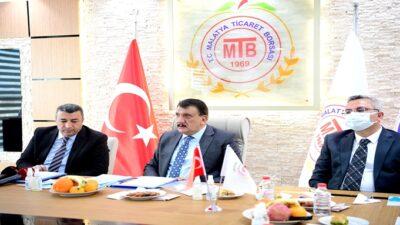 Başkan Gürkan Malatya Ticaret Borsasını Ziyaret Etti