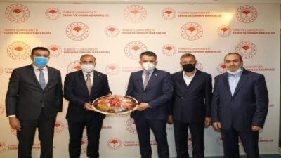 Pütürgeliler ve Milletvekili Tüfenkci, Büyükçay Barajı için Bakan Pakdemirli ile görüştü