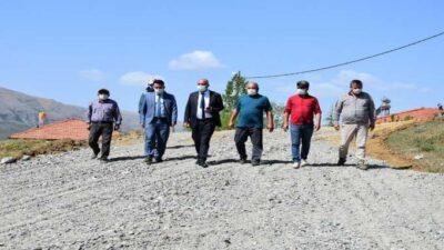Doğanşehir'de Yol Çalışmaları Hız Kesmiyor