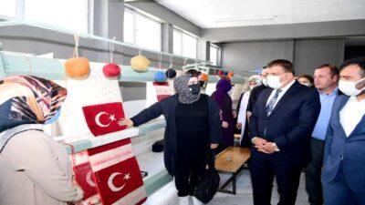 Başkan Gürkandan Girişimci Kadın Kooperatifine Ziyaret