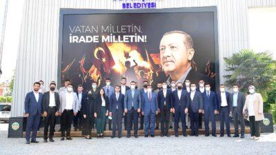 AK Parti Gençlik Kolları Genel Başkanı İnan'da Başkan Gürkan'a ziyaret