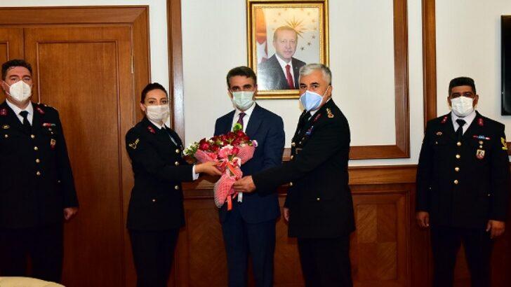 Jandarma Teşkilatı'ndan Vali Baruş'a 182. Kuruluş Yıldönümü Ziyareti