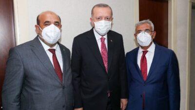 Başkan Güder Cumhurbaşkanı  Erdoğan İle Bir Araya Geldi