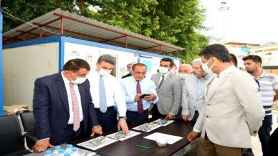 Başkan Gürkan Kernek Meydanında incelemelerde bulundu