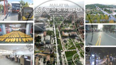 Malatya Büyükşehir Belediyesinden Bayram Tedbirleri