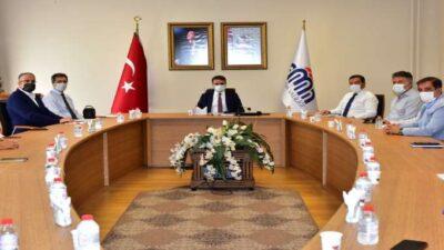 Vali Baruş, İş Adamlarıyla Koronavirüs Salgınına Yönelik Toplantı Düzenledi