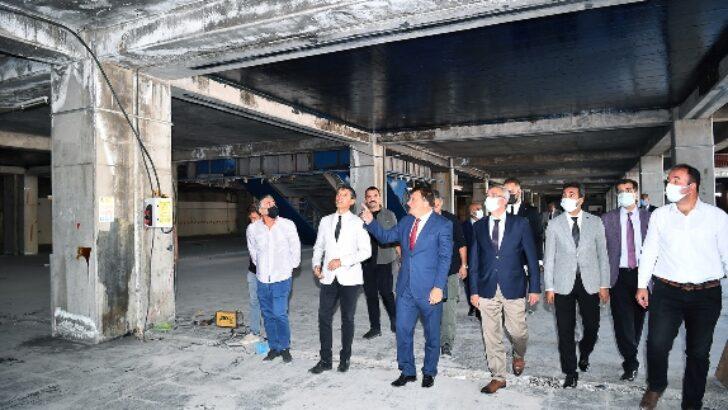 Başkan Gürkan YİMPAŞ binasında incelemelerde bulundu
