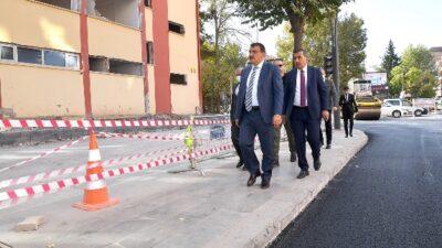 Başkan Gürkan Cumhuriyet Meydanındaki Çalışmaları Yerinde İnceledi
